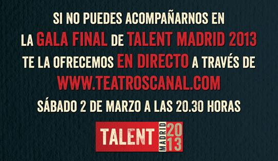 streaming gala talent madrid